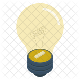 Light Bulb Icon Of Isometric Style Available In Svg Png Eps Ai Icon Fonts