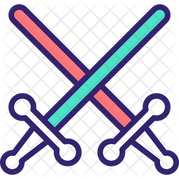 Lightsaber Colored Outline Icon