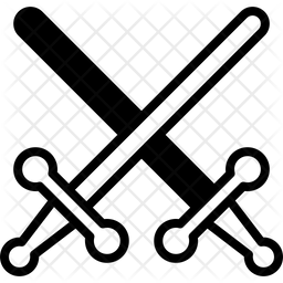 Lightsaber Glyph Icon