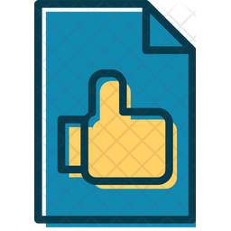 Liked Document Colored Outline Icon
