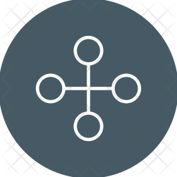 Link, Building, Network, Business, Connection, Connect, Interchange Icon