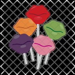 Lip Lollipop Icon