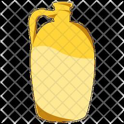Liquid Gold Flat Icon