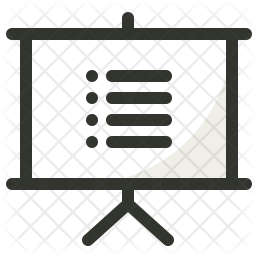 List Colored Outline Icon