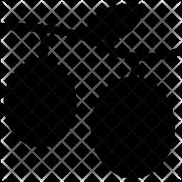 Litchi Glyph Icon