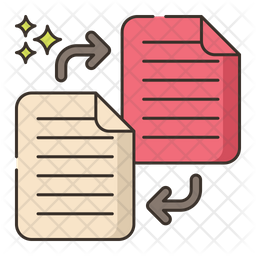 Literature Exchange Colored Outline Icon