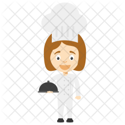 Little Chef Girl Icon