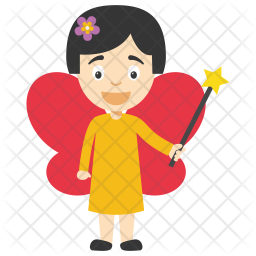 Little Fairy Cartoon Icon