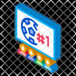 Live Match Isometric Icon