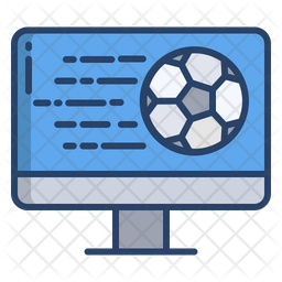 Live Match Colored Outline Icon
