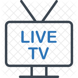 Live Tv Icon Of Line Style Available In Svg Png Eps Ai Icon Fonts