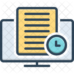 Loading Time Colored Outline Icon