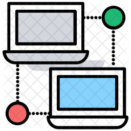 Local Networking Colored Outline Icon