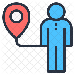 Locating people Icon