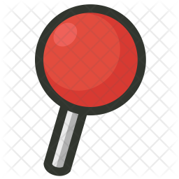 Location Colored Outline Icon