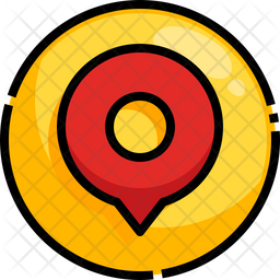 Location Notification Colored Outline Icon