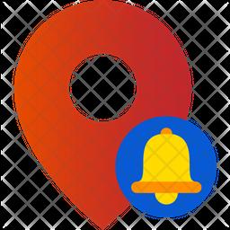 Location Notification Gradient Icon