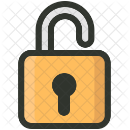 Lock Colored Outline Icon