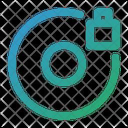 Lock disc Icon