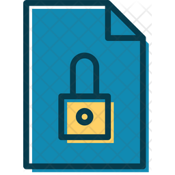 Lock Document Colored Outline Icon