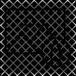 Lock Gallery Line Icon