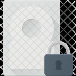 Lock hard-drive Icon