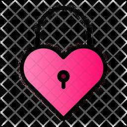 Lock Heart Icon