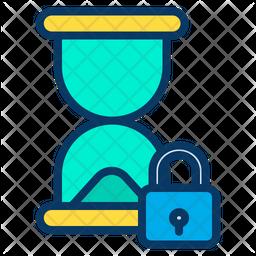 Lock Hourglass Icon