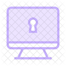 Lock Lcd Colored Outline Icon