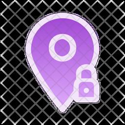 Lock Location Icon