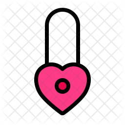 Lock Love Icon