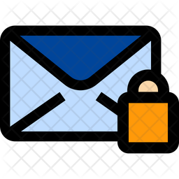 Lock Mail Colored Outline Icon