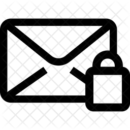 Lock Mail Line Icon