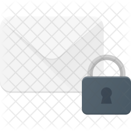 Lock mail Flat Icon