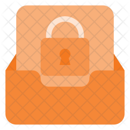 Lock mailbox Flat Icon