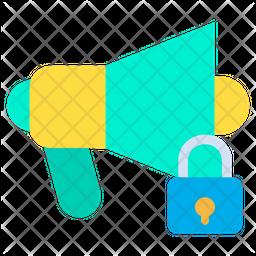 Lock Megaphone Icon