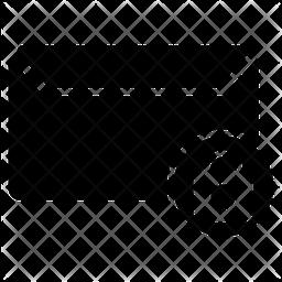 Lock Message Glyph Icon