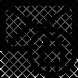 Lock Message Line Icon