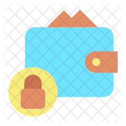 Lock Payment Bills Flat Icon