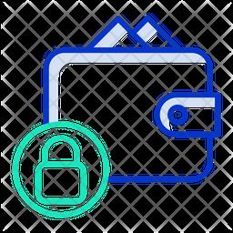 Lock Payment Bills Line Icon