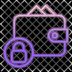 Lock Payment Bills Gradient Icon