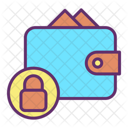 Lock Payment Bills Colored Outline Icon
