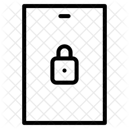 Lock screen Line Icon