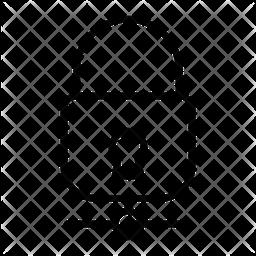 Lock Sharing Line Icon