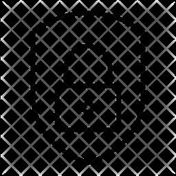 Lock Shield Line Icon