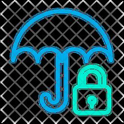 Lock Umbrella Icon