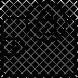 Lock Wallet Line Icon