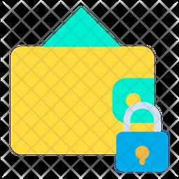 Lock Wallet Flat Icon