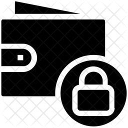 Lock Wallet Glyph Icon