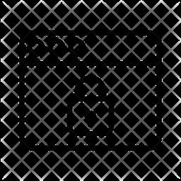 Lock Web Line Icon